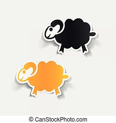 realistic design element: sheep