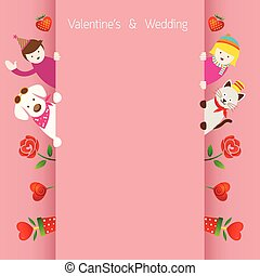 Love Concept Background and Border
