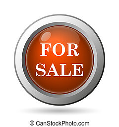 For sale icon. Internet button on white background.
