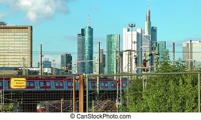 Business Towers and Train Frankfurt - Business Towers and...