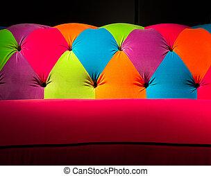 Colored Casting Couch - Multi-colored Vibriant Sofa