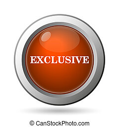 Exclusive icon Internet button on white background