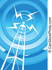 broadcasting tower blue image