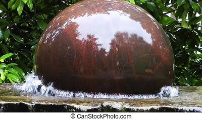 Turning Sphere Stone on Water