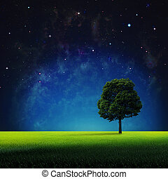 自然, 不滿星星的, 摘要, 背景,  Nasa, 你, 夜晚, 設計