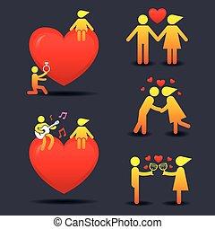 human, Símbolo, Amor, história, conceito,