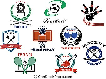 Team sports emblems and logo - Sporting logo and emblems for...