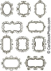 Vintage borders and frames - Retro floral borders and frames...