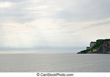 Gulf of St Lawrence - Gray water of St Lawrence gulf in...