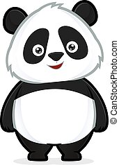 Panda standing - Clipart picture of a panda cartoon...