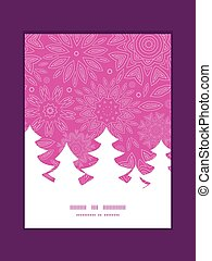 Vector pink abstract flowers texture Christmas tree...