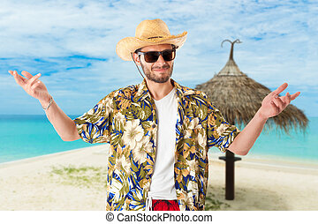 Young man on vacation