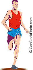 Marathon runner - illustration of a Marathon runner