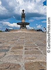 Square de la Bourse at Bordeaux, France - Square de la...