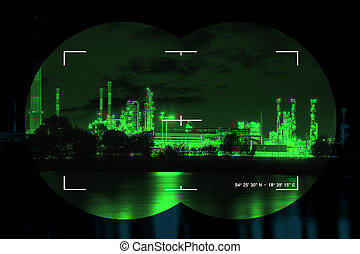 Infrared night view - Chemical industry the threat of...