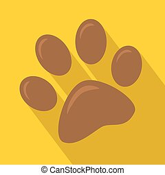 Brown Paw Print Icon