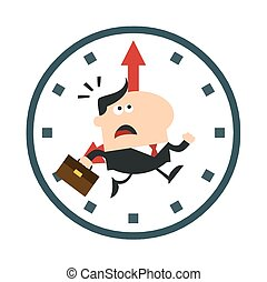 EPS Vector of Clock character running - A clock character running ...