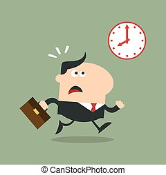 Panic Manager Running Past A Clock