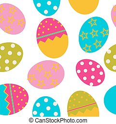 Vector Easter Seamless pattern with eggs background EPS10