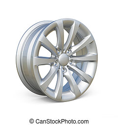 Rendering of an alloy rim isolated on white background