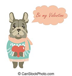 Cute dog wants to be a Valentine