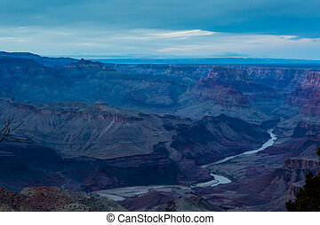 Grand Canyon - View of grand Canyon from South Rim in the...