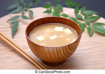 """Miso Soup - Japanese Traditional Cuisine """"Miso Soup"""" with..."""