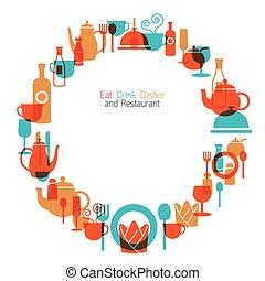 Dinner, Restaurant Frame and Wreath