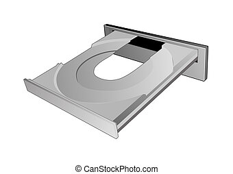 CD ROM disc tray - Illustration of an CD ROM disc tray...