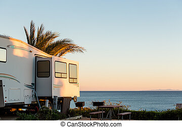 RV Park - Winter RV camping on cost of California.