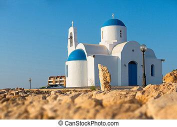 White chapel Protaras, Cyprus