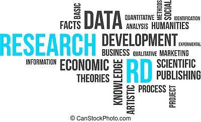 word cloud - research - A word cloud of research related...