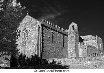 Medieval european abbey Monastery of Santa Clara in Vila do...