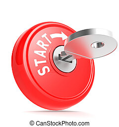 Red start key image with hi-res rendered artwork that could...