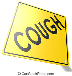 Road sign with cough image with hi-res rendered artwork that...