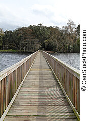 Long dock on the St Johns River - Long dock, on the St....