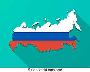 Long shadow Russia map - Illustration of a long shadow...
