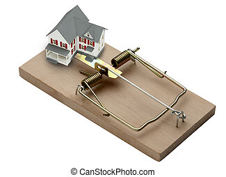 House Trap - model of a house shot in mouse trap