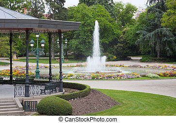 Park in Toulouse - Fountain in a park of Toulouse in France