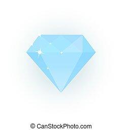 Vector illustration of light blue diamond