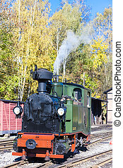 steam locomotive, Johstadt, Germany