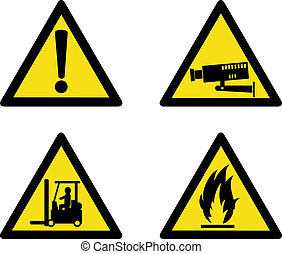 Industrial workplace signs - Illustration on Industrial...
