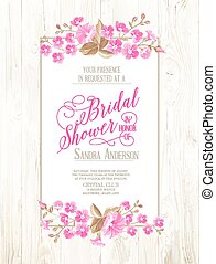 Bridal shower invitation - Bridal shower invitation with...