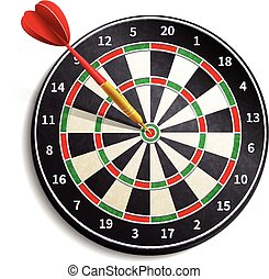 Dart Board Realistic - Dart board with arrow realistic...