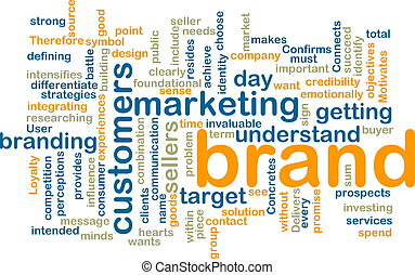 Brand marketing wordcloud - Word cloud tags concept...