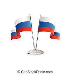 Russian vector table flag