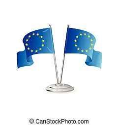 European union vector table flag isolated on white