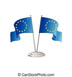 European union vector table flag isolated