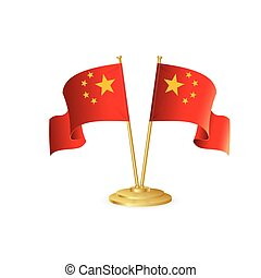 China vector table flag isolated
