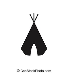 Vector Wigwam Icon - Vector Illustration of a Wigwam Icon